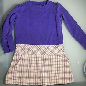 Peekaboo Beans purple and plaid tunic